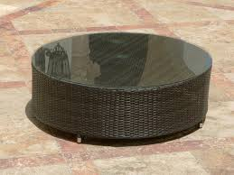 rattan side table outdoor outdoor round wicker coffee table cole papers design best round