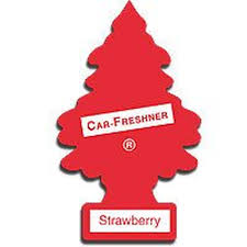 strawberry magic tree in car home hanging cardboard air freshener