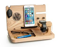 wooden personalized gifts mens gift iphone 7 apple station от lovelyladycat