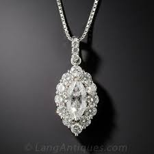 dimond drop platinum 71 carat marquise diamond drop e si1