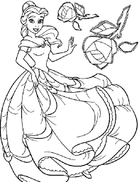 belle child coloring pages coloringstar