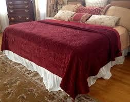 Machine Washable Comforters 85 Deep Red Velvet Quilt King Size Comforter Bedspread Red Satin