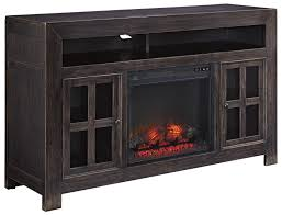 Black Electric Fireplace Best Distressed Black Large Tv Stand With Electric Fireplace Unit