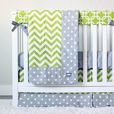 Green And White Crib Bedding Sophistication With Grey Crib Bedding Lostcoastshuttle Bedding Set