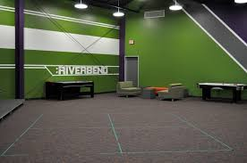 teen church rooms near the stage of the pre teen large group