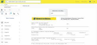 demonstrativo imposto de renda 2015 do banco do brasil como consultar o informe de rendimentos no banco do brasil