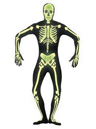 Halloween Skeleton Bodysuit Skeleton Glow In The Dark Mens Bodysuit Costume Halloween Adults