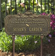 garden plaques personalized garden plaque with poem