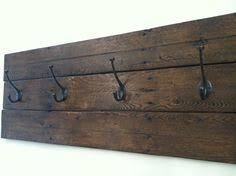 rustic wall mount wood shim coat hook rack 3 oil rubbed bronze