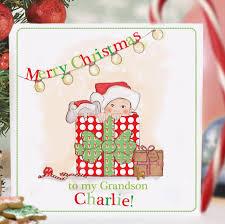 personalised baby u0027s first christmas card u0027surprise u0027 by august