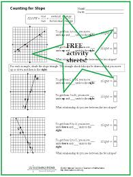 slope of a line worksheets 116 best math slope images on teaching math math