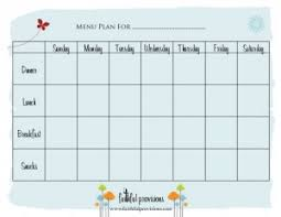 daily menu planner template printable meal planning templates to