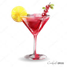 cocktail vector watercolor cosmopolitan cocktail u2014 stock vector tatianadavidova