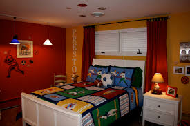 bedroom nice boys bedroom designs with dark bed and plaid bedding