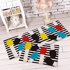 Black Striped Rug Black And White Striped Kitchen Rug Roselawnlutheran