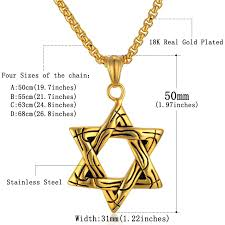 necklace pendant sizes images Jewish magen star of david pendants jewelry 4 size collare gold jpg