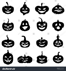 cartoon images of halloween vector illustrations cartoon silhouette halloween pumpkins stock