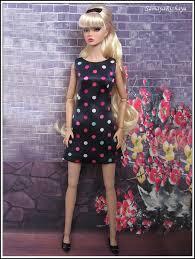 u2013 dark blue polka dots dress fits 1 6 poppy parker fr nu