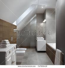 Modern Bathroom Toilet 3d Rendering Modern Clean Bathroom Toilet Stock Illustration