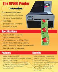amazon com vp700 high speed color inkjet laser label printer