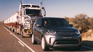 range rover camping 2018 land rover discovery tows 110 tonnes road train youtube