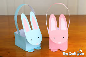 easter basket bunny printable easter bunny baskets the craft