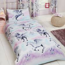 girls pink and purple bedding girls duvet covers bedding junior single double unicorn birds