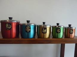 ebay kitchen canisters collectable vintage retro kitchen canisters flour sugar rice tea