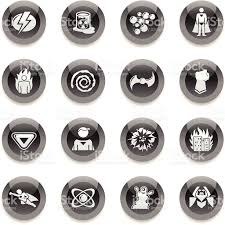 black round icons superhero stock vector art 165643856 istock