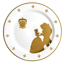 guest plate your wdw store disney dinner plate beauty the beast be our