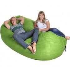 black microfiber and memory foam bean bag chair 8 u0027 oval free