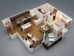 appartement avec une chambre 50 plans en 3d d appartement avec 1 chambres sims house plan 3d