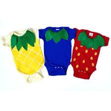 fruit salad triplet baby costume food onsie halloween costume