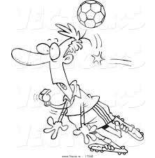 vector of a cartoon soccer ball hitting a referee coloring page