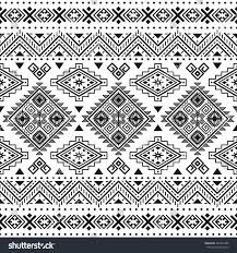 Tribal Print Wallpaper by Ethnic Seamless Monochrome Pattern Aztec Geometric Stock Vector