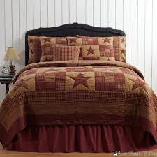 King Quilt Bedding Sets Rustic Bedroom With Brown Country Rustic Primitive Cal King