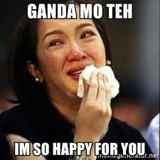 Ganda Mo Meme - ganda mo teh im so happy for you cris aquino cry meme generator