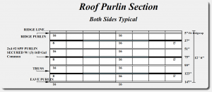 how to install pole barn purlins