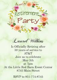 retirement party invitations retirement party invitations custom designed new for 2018
