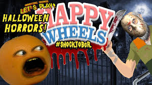 annoying orange plays happy wheels halloween horrors