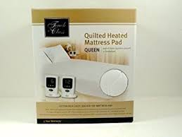 buy touch of class quilted heated mattress pad queen 60in x 80in