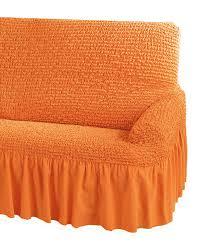housse de canapé bi extensible housse gaufrée bi extensible fauteuil et canapé saumon textile