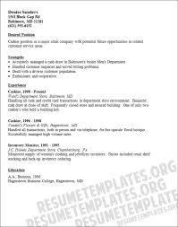 cashier resume template cashier resume exles musiccityspiritsandcocktail