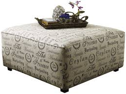 ottoman coffee table tufted leather small print fabric thippo
