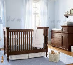 archaic image of light blue unisex baby nursery decoration using