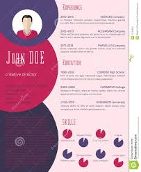 Fashion Designer Resume Templates Free Colorful Cool Resume Cv Template Stock Illustration Image 57724950