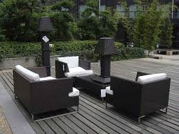 Menards Wicker Patio Furniture - classic deck style ideas with black resin wicker chair menards