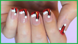santa hat french manicure youtube