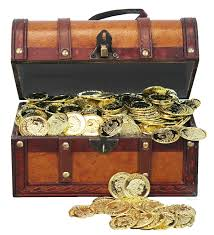 amazon com faux leather pirate treasure chest with 144 coins