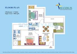 900 Sq Ft Apartment Floor Plan 2 Bhk 900 Sq Ft Apartment For Sale In Maxblis White House At Rs